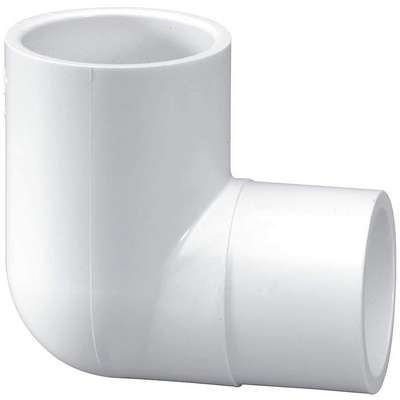 "PVC Street Elbow, 90°, Spigot x Socket, 1-1/4"" Pipe Size - Pipe Fitting"