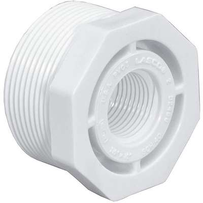 "PVC Reducing Bushing, MNPT x FNPT, 3/4"" x 1/2"" Pipe Size - Pipe Fitting"