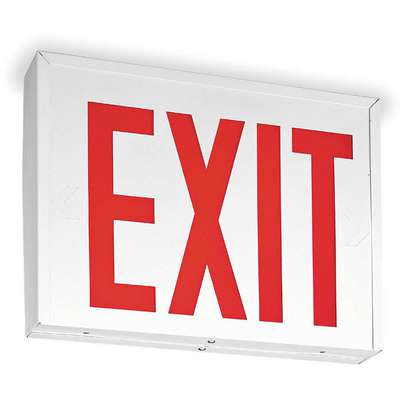 LED Universal Exit Sign with Battery Backup, Red Letters and 1 or 2 Sides, 10-5/8 in. H x 14-5/8 in. W