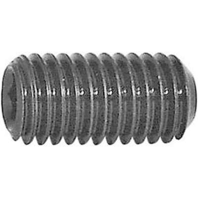 "Socket Set Screw, 3/8""-24 x 1/2"", Plain, Alloy Steel, 100 PK"