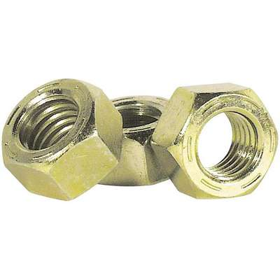 "Imperial® Grade 8 SAE Hex Nut, 1/2""-20, Zinc Yellow, Medium Carbon Steel, Right Hand, 50 PK"
