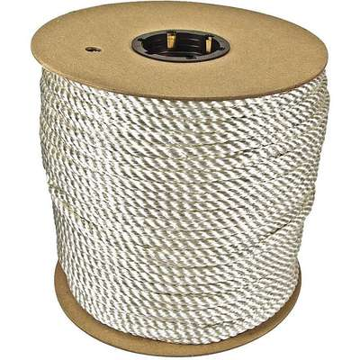 "5/8"" dia. Nylon All Purpose General Utility Rope, White, 600 ft."