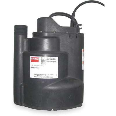 1/2 HP Submersible Sump Pump, Vertical Switch Type, Polypropylene Base Material
