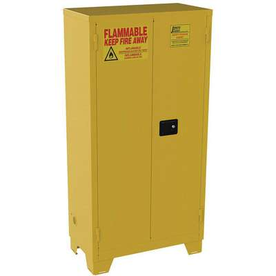 "44 gal. Flammable Cabinet, 70"" x 34"" x 18"", Self-Closing Door Type"