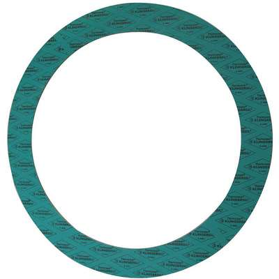 "Synthetic Fiber with Nitrile Binder Flange Gasket, 8-3/4"" Outside Dia., Green"