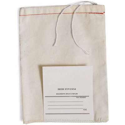 "12""L x 8""W Drawstring Mailing Bag with Tag; No. of Drawstrings: 1, Write on Surface: Yes"