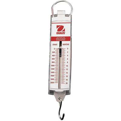 Mechanical Hanging Scale, Analog Linear Display, 200g Capacity, 2g Graduations