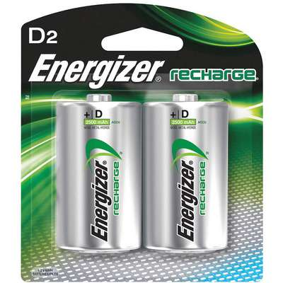 D Pre-Charged Rechargeable Battery, Recharge, Nickel-Metal Hydride, PK2