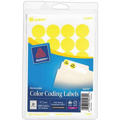 Label, Neon Yellow, 4-19/32 in. H, PK42