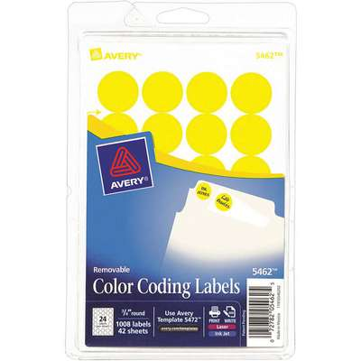 Label, Yellow, 4-19/32 in.H x 3 in.W, PK42