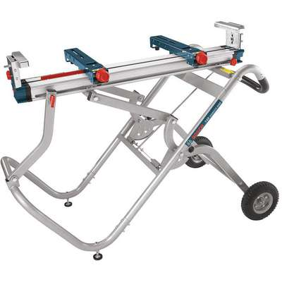"Bosch T4B Gravity-Rise Miter Saw Stand with Wheels, 51-1/2"", For Use With All Bosch Miter Saw"