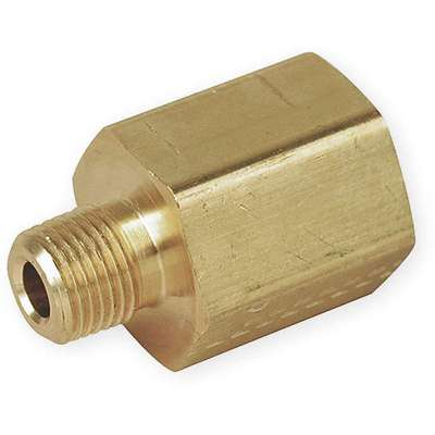 "Brass Reducing Adapter, FNPT x MNPT, 1/2"" x 1/4"" Pipe Size, 1 EA"