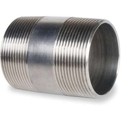 "3/4"" x 2"" 316 Stainless Steel Nipple, Pipe Schedule 40, Threaded on Both Ends"