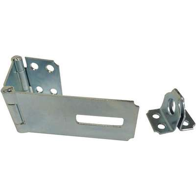 "Conventional Fixed Staple Hasp, 1-1/16""H x 1-1/2""W x 5-1/8""L, Zinc Plated Finish"