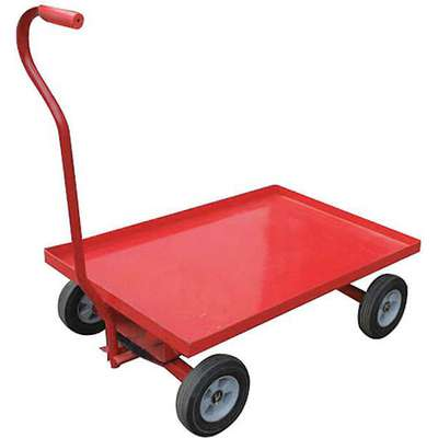 "Wagon Truck With 5th Wheel, 1200 lb. Load Capacity, Solid Rubber Wheel Type, 8"" Wheel Diameter"