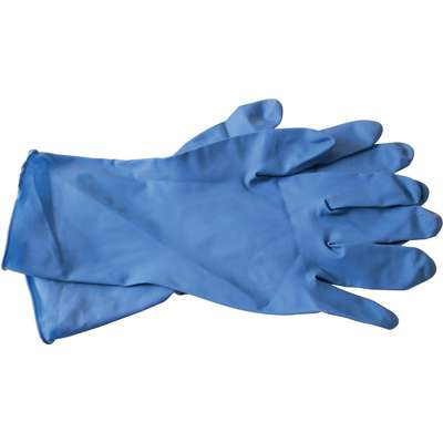 "Latex Disposable Gloves, XL, 12"", 15 mil, Blue, 50 PK"