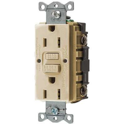 15A Industrial Receptacle, Ivory; Tamper Resistant: No