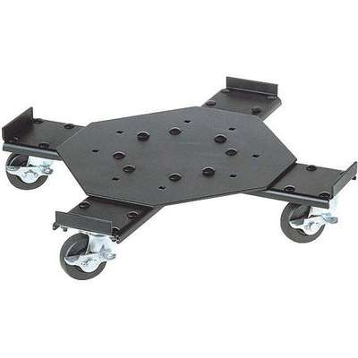 Adj. Drum Dolly,Steel,4 in. H,Black