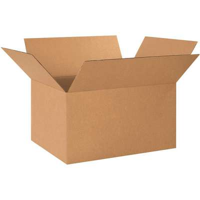 "Shipping Carton, Kraft, Inside Width 17"", Inside Length 24"", Inside Depth 12"", 65 lb., 1 EA"
