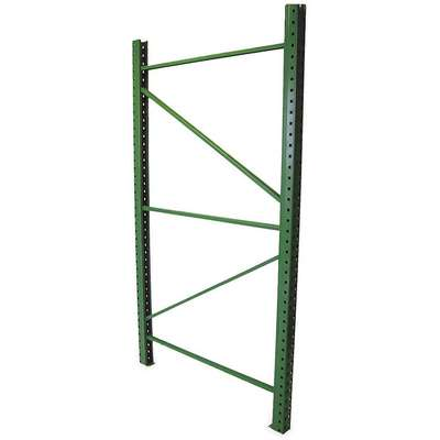 "Roll Formed Teardrop Upright Frame, 96"" Overall Height, 3"" Overall Width, 36"" Overall Depth"