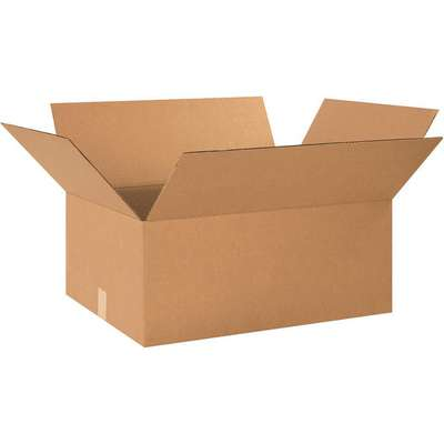 "Shipping Carton, Kraft, Inside Width 18"", Inside Length 26"", Inside Depth 10"", 65 lb., 1 EA"