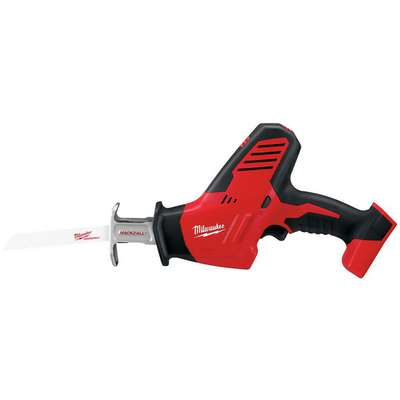 "Milwaukee M18 2625-20 18V Cordless Reciprocating Saw, 3/4"" Length of Stroke, Straight Cut"