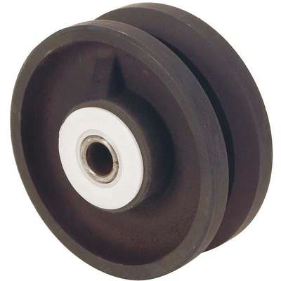 "4"" Caster Wheel, 800 lb. Load Rating, Wheel Width 2"", Cast Iron, Fits Axle Dia. 1/2"""