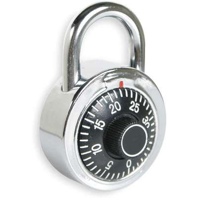 "Combination Padlock Center-Dial Location, 5/8"" Shackle Height"