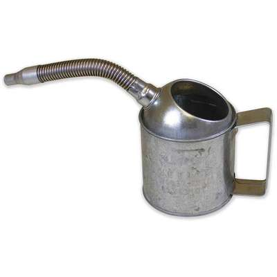 "Funnel, Steel, 32 oz. Total Capacity, 6"" Height, 4-3/4"" Length, 3/4"", 1-1/8"" Spout Outside Dia."