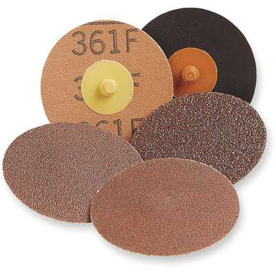 "2"" Coated Quick Change Disc, TR Roll-On/Off Type 3, 80, Coarse, Ceramic, 1 EA"