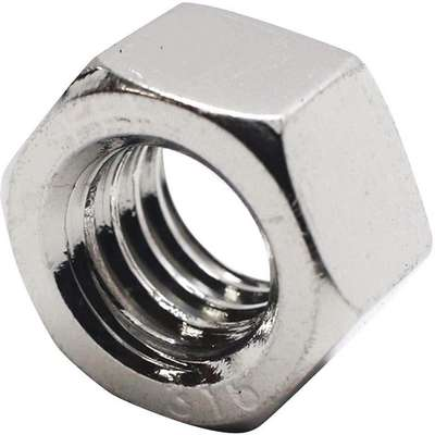 #10-24 Hex Nut, NL-19(SM) Finish, 18-8 Stainless Steel, Right Hand, ASME B18.6.3, PK100