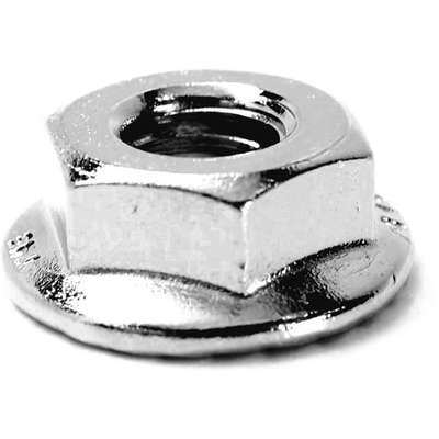 M8-1.25 Serrated Flange Nut, NL-19(SM) Finish, Stainless Steel A4, PK25