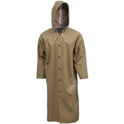 Flame Resistant Rain Coat, PPE Category: 0, High Visibility: No, Neoprene, M, Tan