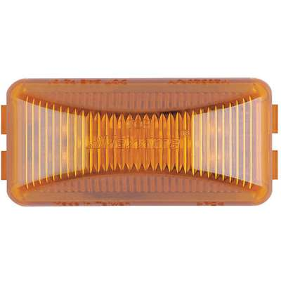 Amber Clearance Marker Light, J592e, P2, Permanent, Rectangular