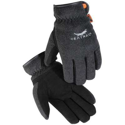 Cold Protection Gloves, Heatrac® Lining, Shirred Elastic Wrist Cuff, Black/Charcoal, XL, PR 1