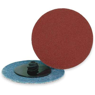 "2"" Coated Quick Change Disc, TR Roll-On/Off Type 3, 36, Extra Coarse, Aluminum Oxide, 25 PK"
