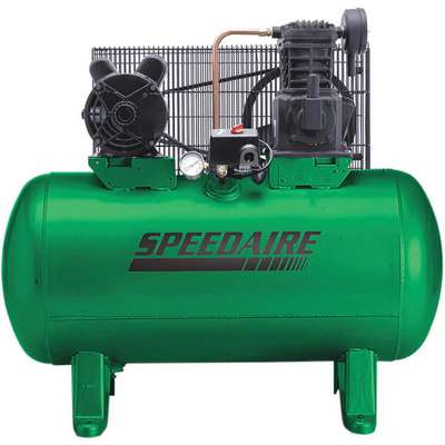3 Phase - Electrical Horizontal Tank Mounted 3.00HP - Air Compressor Stationary Air Compressor, 30 g