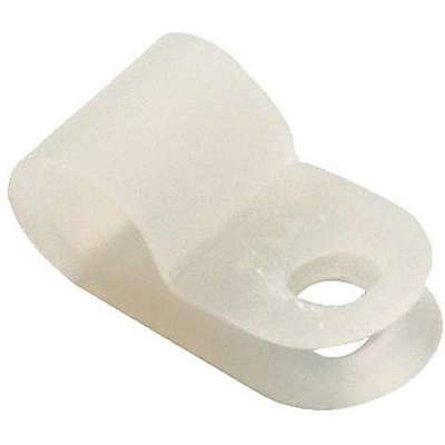 "1/8"" Dia. Cable Clamp, Nylon, Natural, 3/8"" Width, PK25"