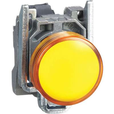 Pilot Light Complete, 22mm, 110 to 120VAC Voltage, Lamp Type: LED, Terminal Connection: Screw Clamp