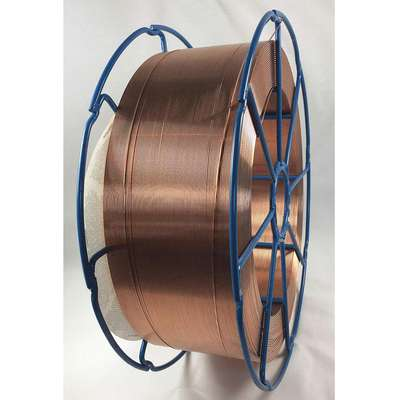 "33 lb. Carbon Steel Spool MIG Welding Wire with 0.035"" Diameter and ER70S-6 AWS Classification"