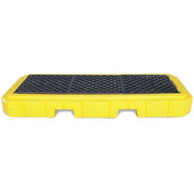 UltraTech® 66 gal. Polyethylene Drum Spill Containment Pallet for 3 Drums; Drain Included: No