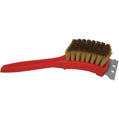 "9""L Brass Short Handle Oven/Grill Brush and Scraper, Black"