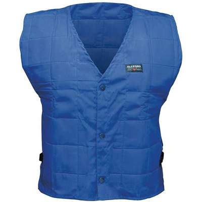 Cooling Vest, 24 to 72 hr. Cooling Time, Blue, 2XL