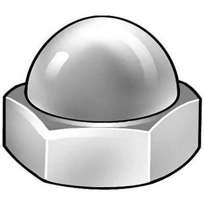 M5-0.80 Cap Nut, Plain Finish, Stainless Steel A2, PK25