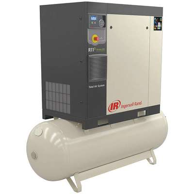 3-Phase 15 HP Rotary Screw Air Compressor with 120 gal. Tank Size