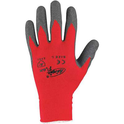 Coated Gloves, XL, Palm, Natural Rubber Latex Glove Coating Material, 3 ANSI/ISEA Abrasion Level