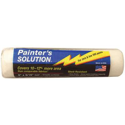 "Paint Roller Cover, Woven Fabric Cover Material, 9"" Length, 3/16"" Nap"