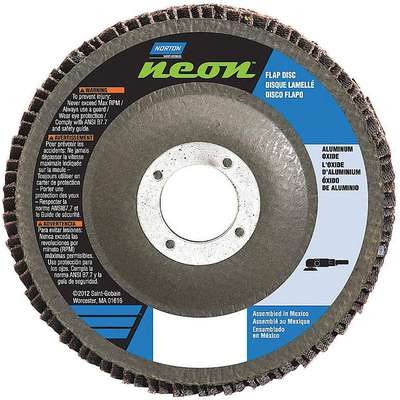 "4-1/2"" Flap Disc, Type 29, 5/8""-11 Mounting Hole, Coarse, 40 Grit Aluminum Oxide, 1 EA"