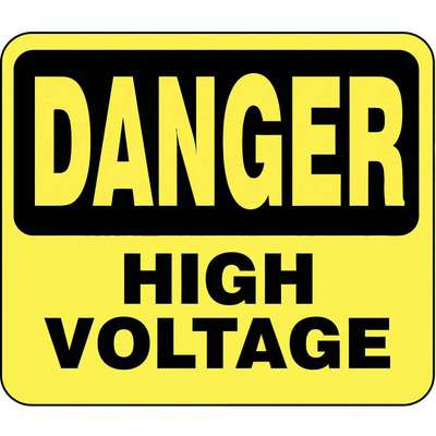 Acrylic Sign,Yellow,Danger High Voltage