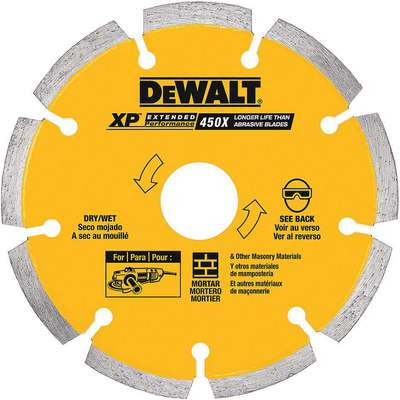 "5"" Dry Diamond Saw Blade, Segmented Rim Type, Application: Masonry"